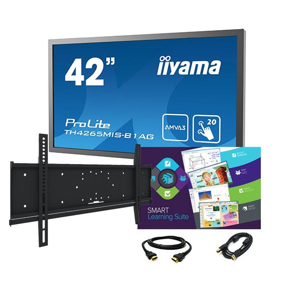"""Комплект № 1. Интерактивная панель Iiyama TH4265MIS-B1AG — 42″ + Программный комплекс """"SMART Learning Suite""""."""