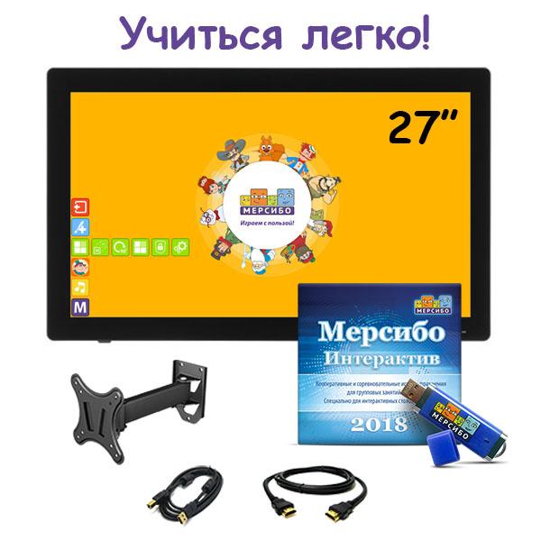 Комплект ИНСЭЛ «Учиться легко!» № 1. Интерактивная панель 27″ + «Мерсибо интерактив»