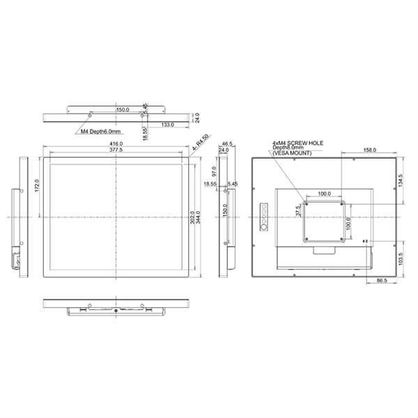 Интерактивная панель iiyama ProLite TF1934MC-B7X — 19″q