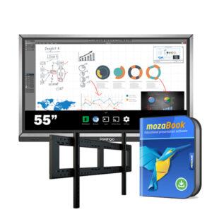 Комплект для школы № 3. Интерактивная панель 55″ со встроенным компьютером + ПО mozaBook Classroom.