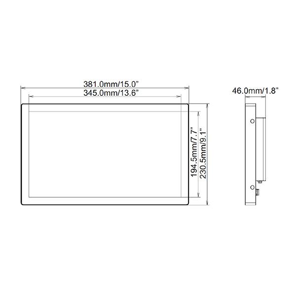 Схема интерактивной панели iiyama ProLite TF1634MC-B6X — 16″