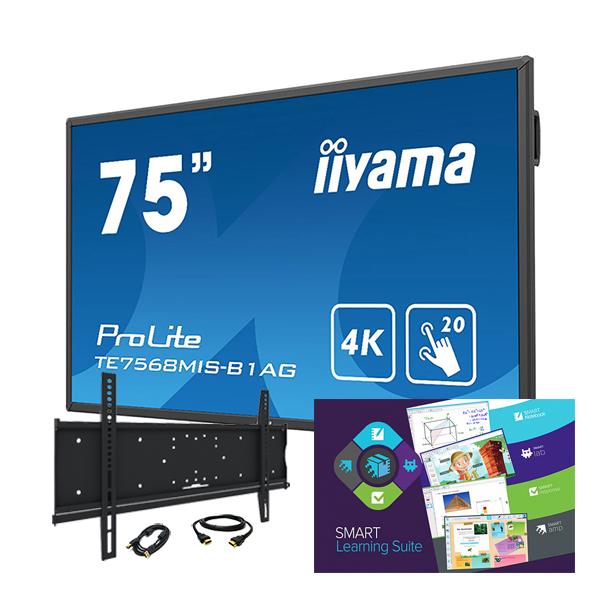 """Комплект № 6. Интерактивная панель Iiyama TE7568MIS-B1AG - 75"""" + Программный комплекс """"SMART Learning Suite""""."""