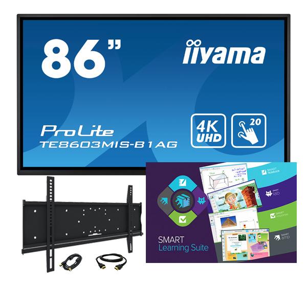 """Комплект № 7. Интерактивная панель Iiyama TE8603MIS-B1AG - 86"""" + Программный комплекс """"SMART Learning Suite""""."""