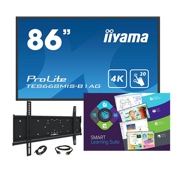 """Комплект № 7. Интерактивная панель Iiyama TE8668MIS-B1AG - 86"""" + Программный комплекс """"SMART Learning Suite""""."""