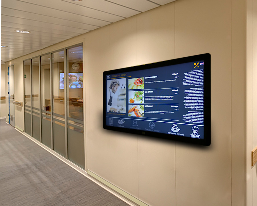 Настенная интерактивная панель ELO-LINE TL3236W в интерьере