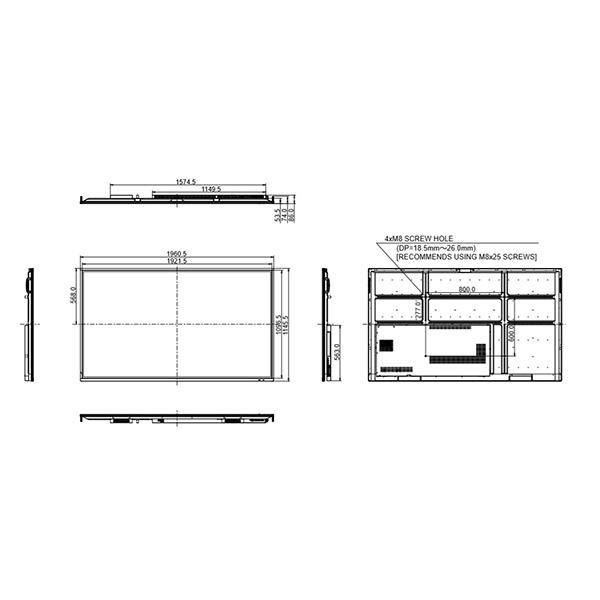 Интерактивная панель iiyama PROLITE TE8603MIS-B1AG (схема)