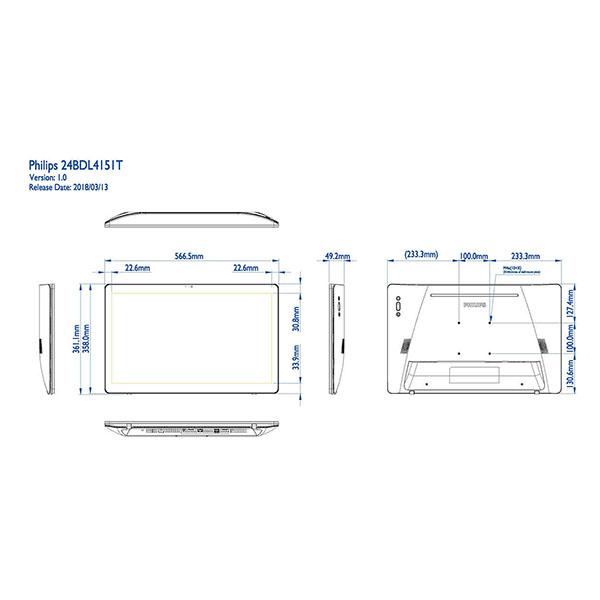 Интерактивная панель PHILIPS 24BDL4151T/00 — схема