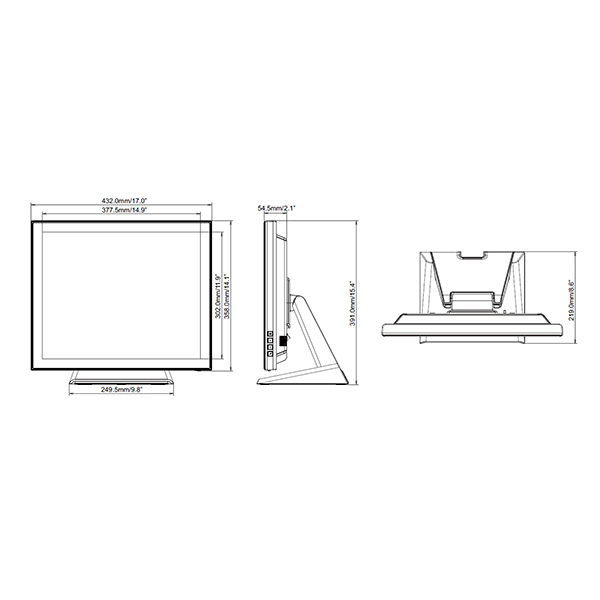Интерактивная панель iiyama PROLITE T1932MSC-B5AG — схема