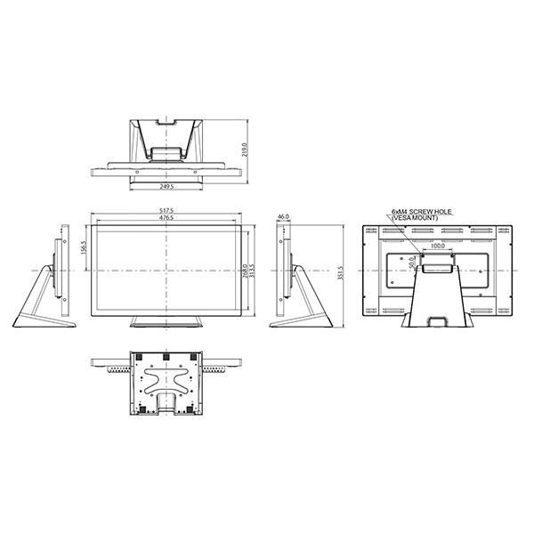 Интерактивная панель iiyama ProLite T2234AS-B1 — схема