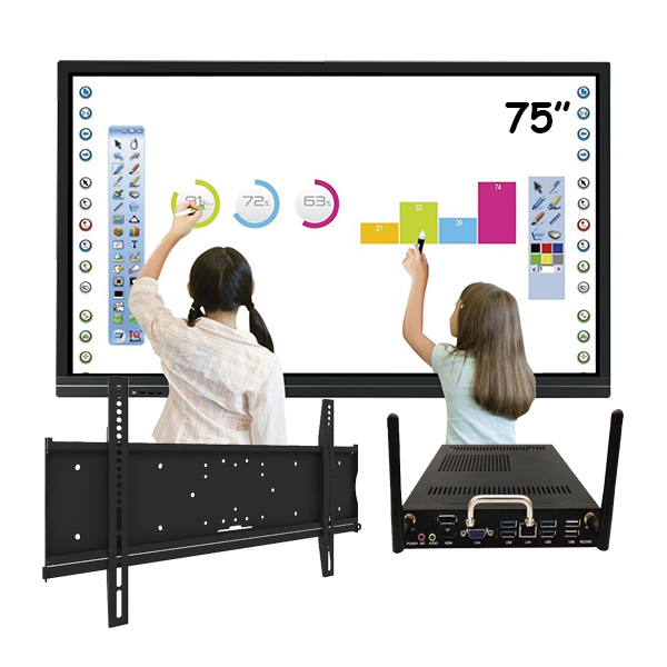 """Комплект для школы № 8. Интерактивная панель 75"""" со встроенным компьютером"""