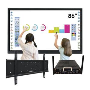 """Комплект для школы № 9. Интерактивная панель 86"""" со встроенным компьютером"""