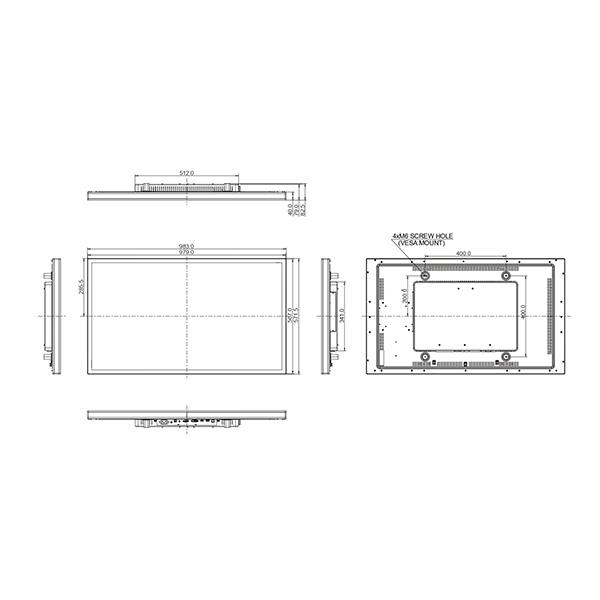 Сенсорный профессиональный монитор iiyama ProLite T4361MSC-B1 (схема)