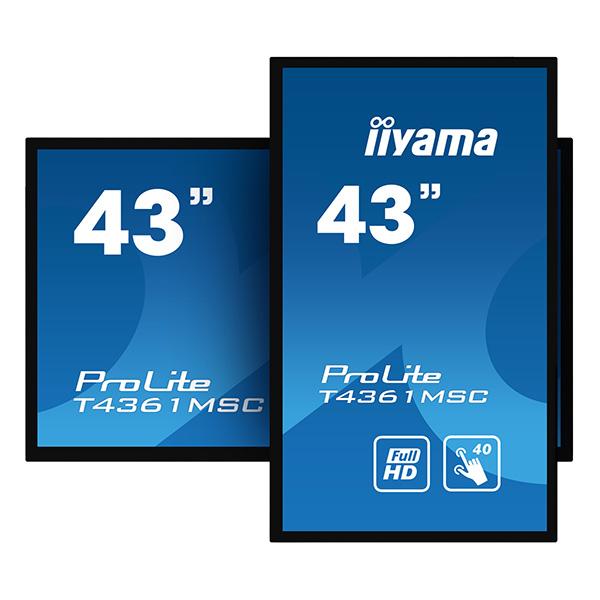 Сенсорный профессиональный монитор iiyama ProLite T4361MSC-B1 — 43″