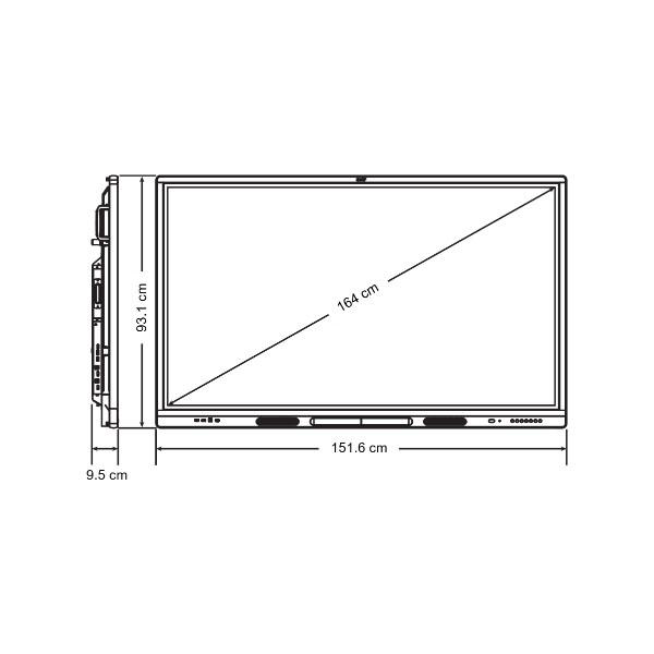 Схема интерактивной панели SMART SBID-MX265-V2 с ключом активации SMART Learning Suite