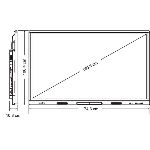 Схема интерактивной панели SMART SBID-MX275-V2 с ключом активации SMART Learning Suite