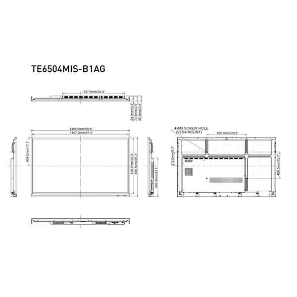 Интерактивная панель iiyama PROLITE TE6504MIS-B1AG — схема