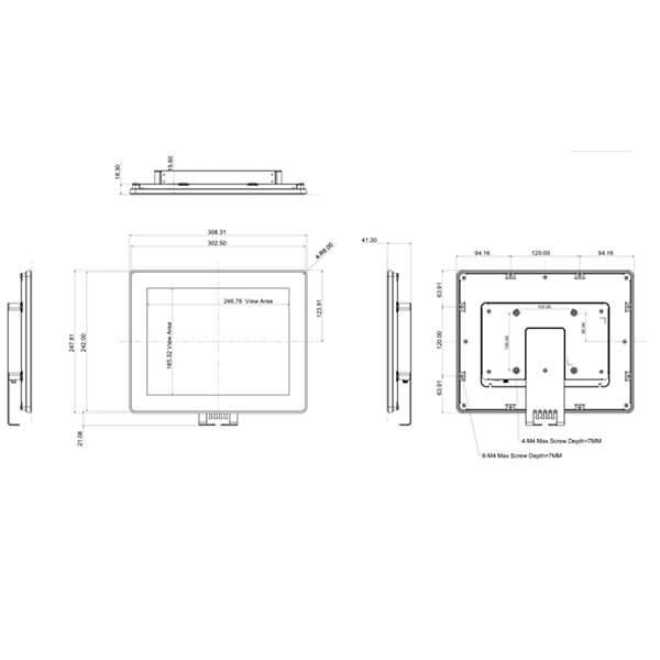 Интерактивная панель iiyama ProLite TF1215MC-B1 — 12″