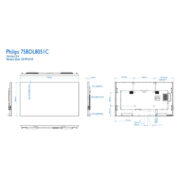Интерактивная панель PHILIPS 65BDL8051C/00 — схема