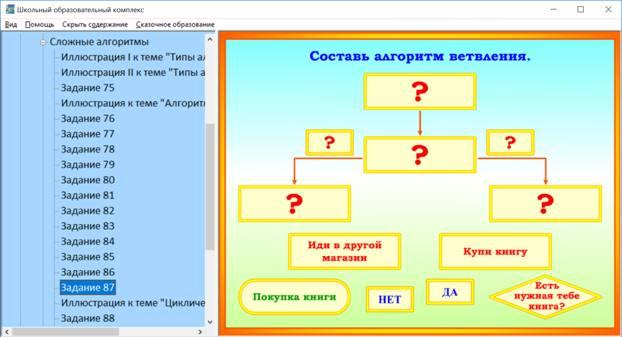 Пособие «Информатика для начальной школы». Задание