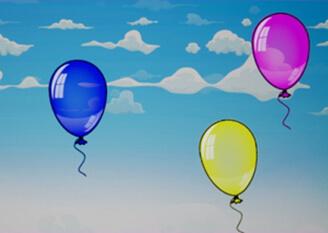 """Интерактивная стена """"Попадалкин"""" - игра """"Воздушные шары"""""""